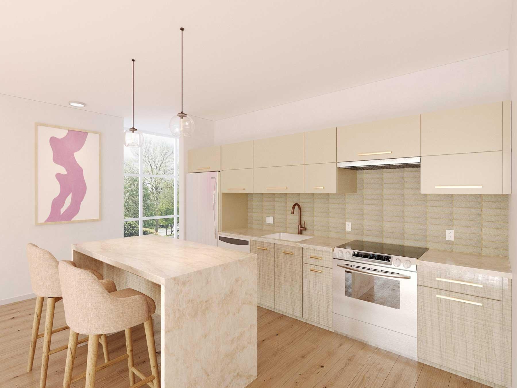 Design I West- Kitchen rendering