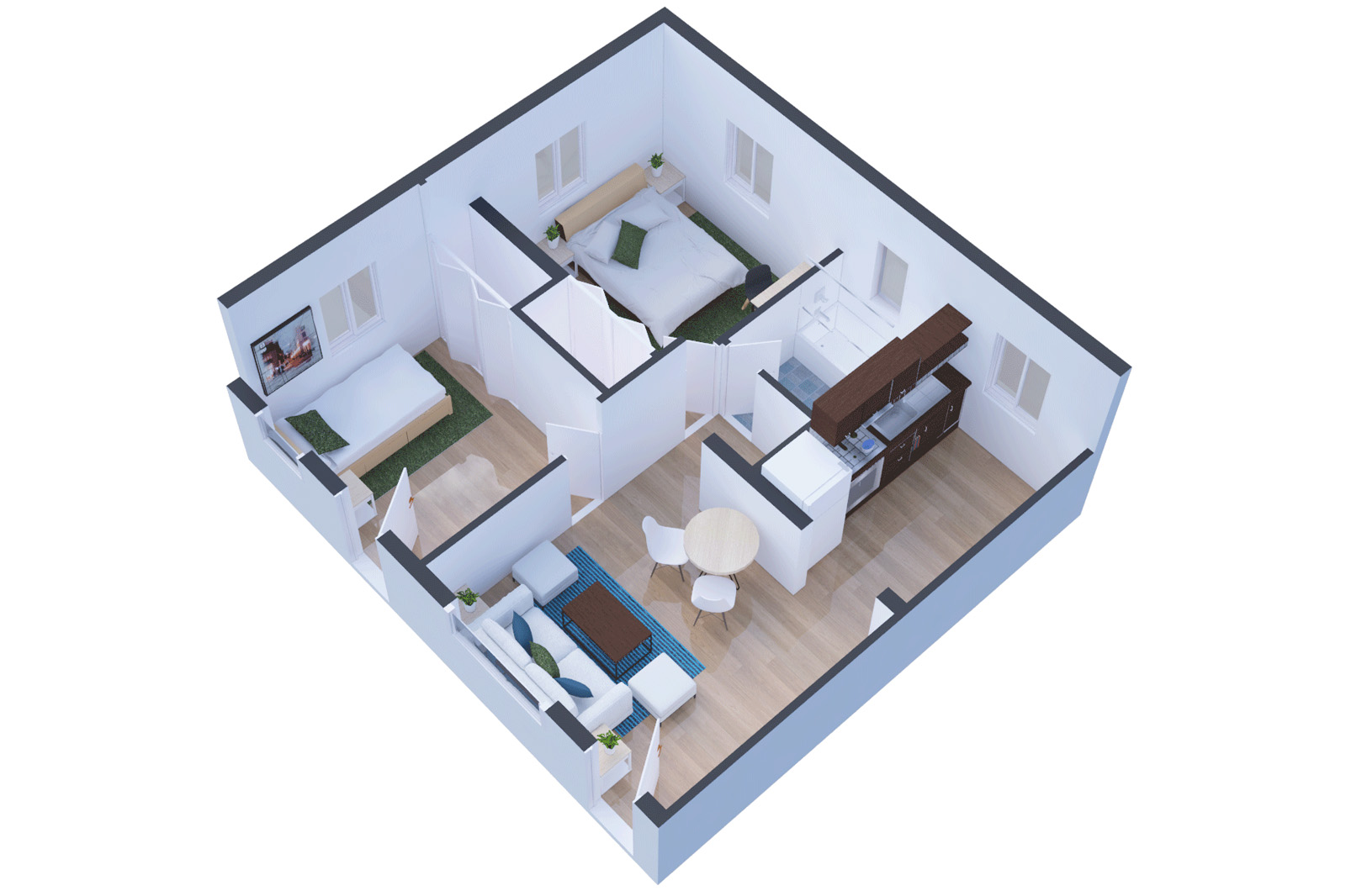 Federal Projects Developers- Real Estate 3d Plan