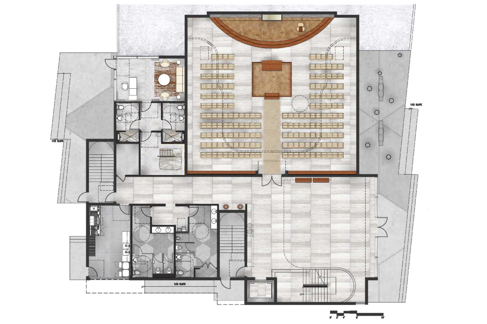 KAZA Interiors- Rendered Floor Plan