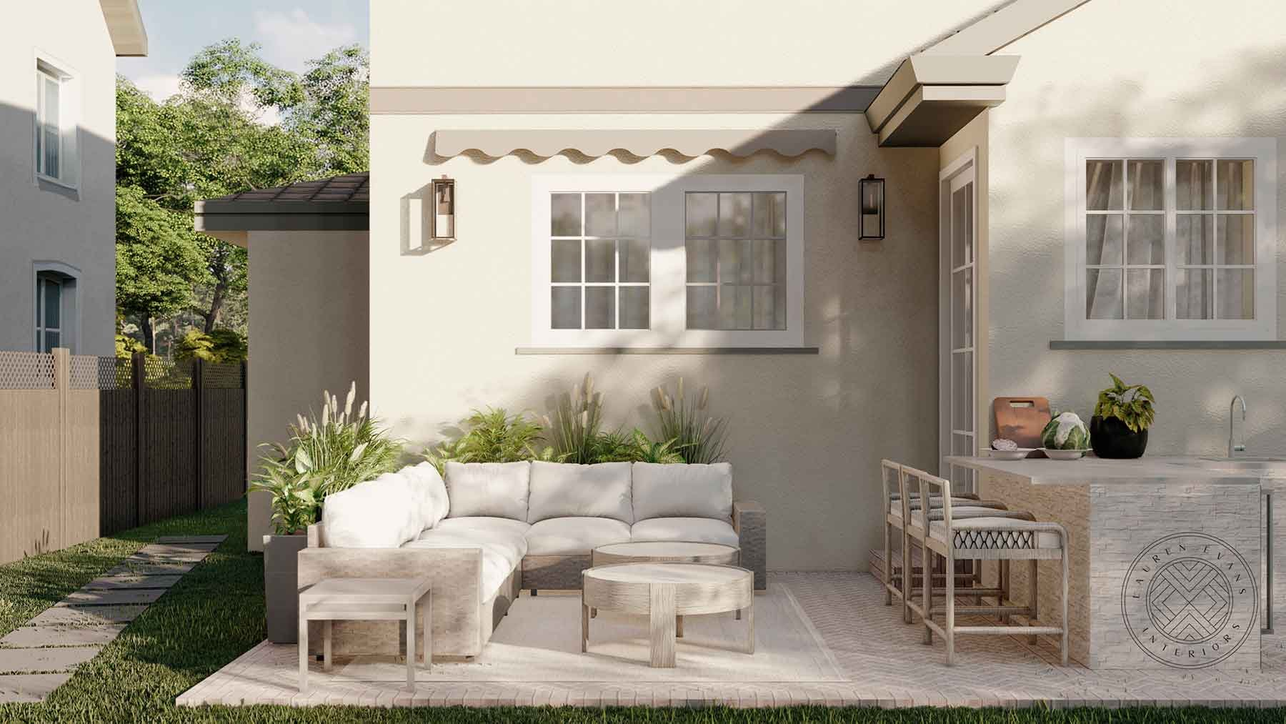 Lauren Evans Interior Design- Outdoor Renderings
