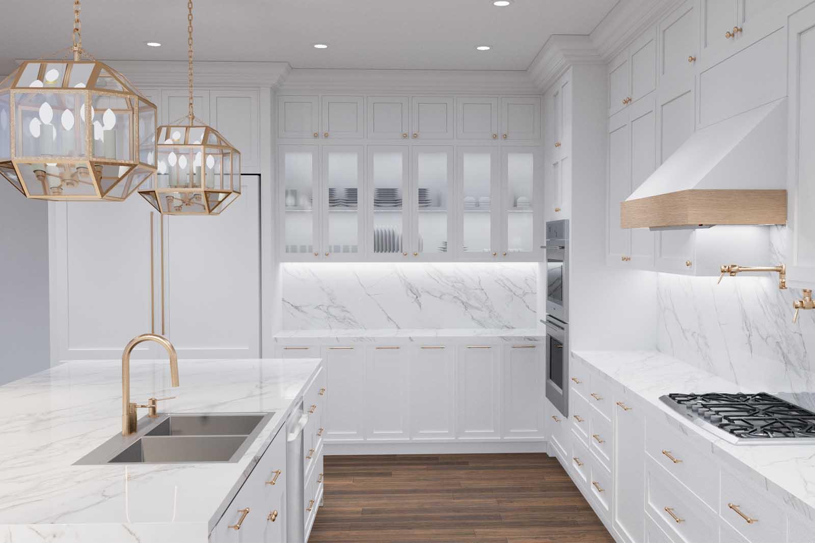 Saga Interiors- Kitchen Renderings