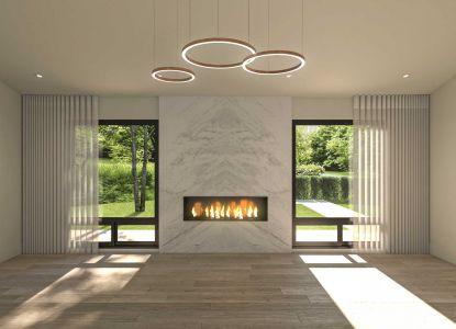 Menderley Home- Living Room renderings